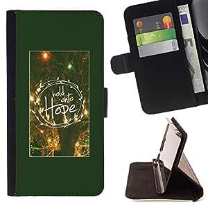 BullDog Case - FOR/Apple Iphone 4 / 4S / - / hope motivational poster winter night /- Monedero de cuero de la PU Llevar cubierta de la caja con el ID Credit Card Slots Flip funda de cuer