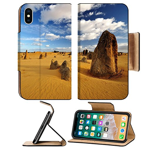 MSD Premium Apple iPhone X Flip Pu Leather Wallet Case Pinnacles desert on a sunny day Western Australia IMAGE - Australia Sunnies