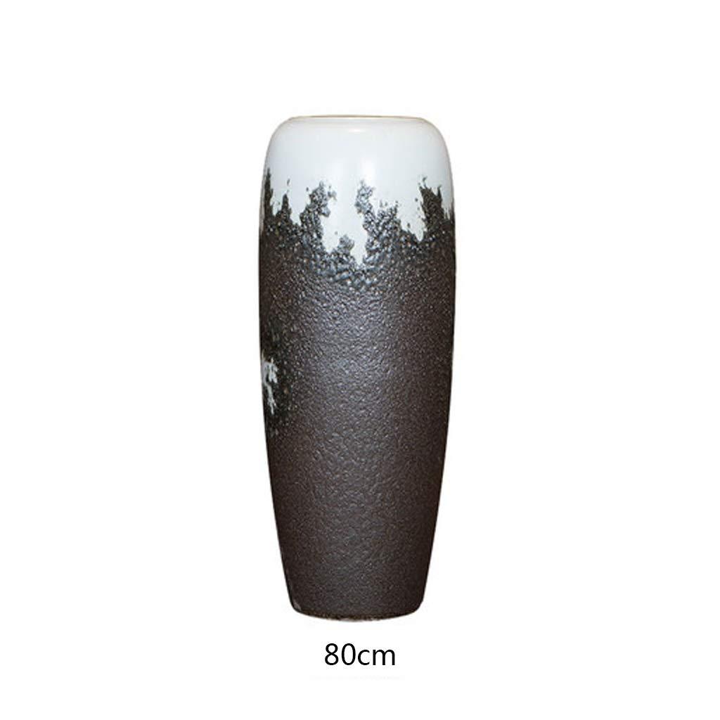 レトロフロアセラミック花瓶ドライフラワーリビングルーム陶器陶器ホームデコレーション LQX B07R3R3NHQ