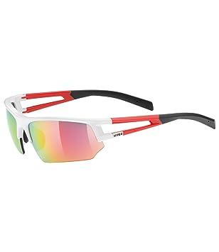 Uvex Erwachsene Sportbrille Sportstyle 110, White/Red, One size, 5306928316