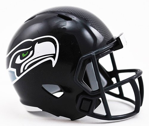 (Seattle Seahawks NFL Riddell Speed Pocket PRO Micro/Pocket-Size/Mini Football Helmet)