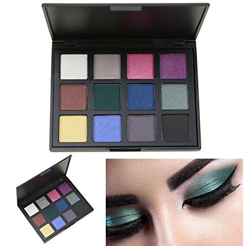 Makeup Glitter Eyeshadow Palette, AMBITO 12 Warm Colours Eye
