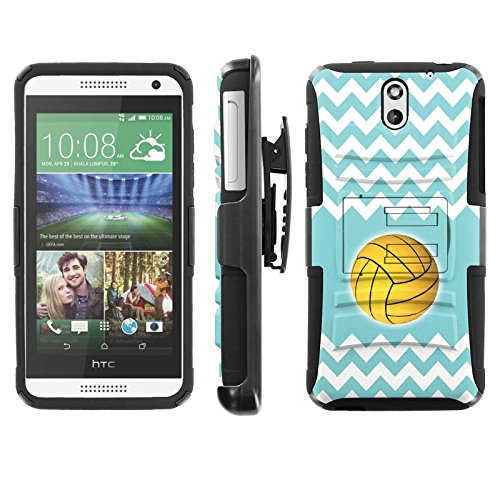[ArmorXtreme] Case for HTC Desire 610 Black/Black [Combat Armor Heavy Duty Case with Holster] - [Teal Chevron - Cases For Htc Teal 610 Desire