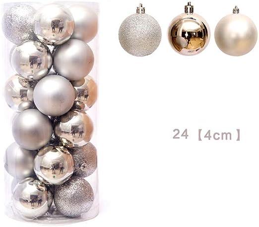 SET OF 48 XMAS BAUBLES 3CM BAUBLES BALLS IN PVC BOX CHRISTMAS TREE DECORATION