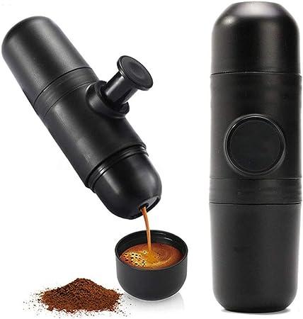 Cafetera portátil de presión manual Mini máquina de café espresso para viajes de camping Oficina en el hogar: Amazon.es: Hogar