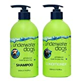 Underwater Dogs - Soap Free Dog Shampoo and Conditioner Set - 16.9 Fl. Oz. Vanilla/Coconut - Eliminates Pet Odor and Relieves Itchy Skin