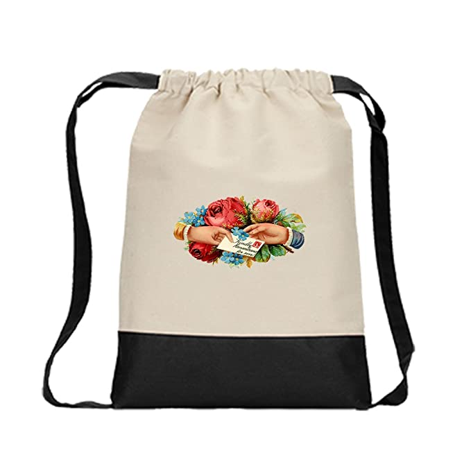 Canvas Backpack Color Drawstring Kindly Remembrance For Ever By Style In Print