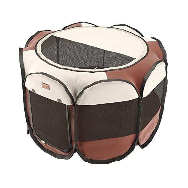 Home Intuition Portable Foldable Pet Playpen Exercise Kennel for Dogs and Cats with Removable Sun Shade, Small Click on image for further info. 3