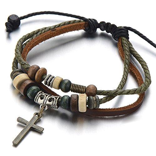 Tribal Multi strand Leather Bracelet Wristband