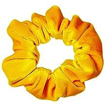 Large Jumbo Yellow Velvet Scrunchie