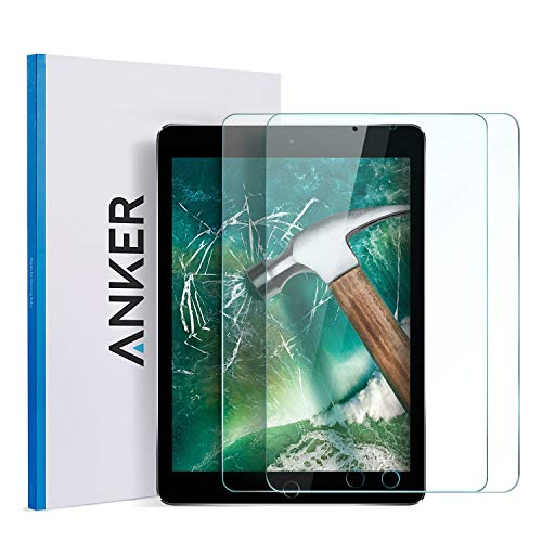 iPad Mini 4/5 Screen Protector(2 Pack) -Anker Premium Tempered-Glass Tablet Screen Protector with Retina Display (Not Compatible with iPad Mini / 2/3) w/ ...