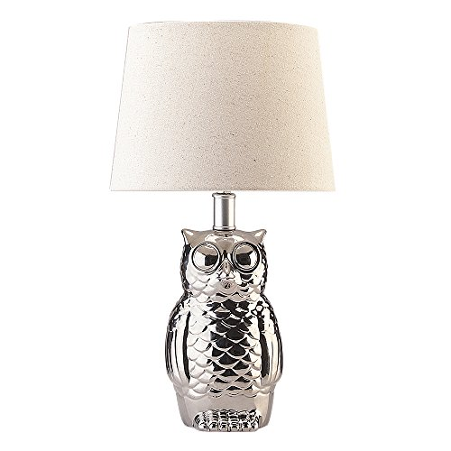 Table Lamps with Owl Shape Holder and White Linen Shade Create a Welcoming Ambiance in Hour Home with This Better Homes and Gardens Desk Lamp ()