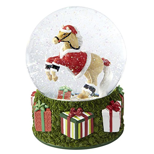 Enesco Trail of Painted Ponies Santa Pony Snow Globe, 8.1-Inch