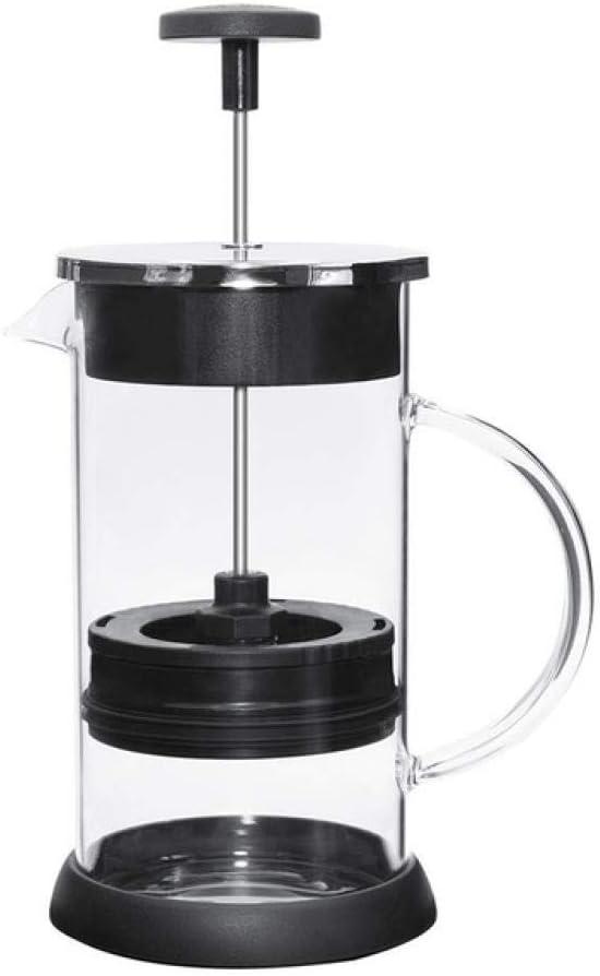Hokaime Cafetera de 350 ml de presión Tetera Tetera Resistente al Calor Cafetera Negra y Plateada, Plateada: Amazon.es: Hogar