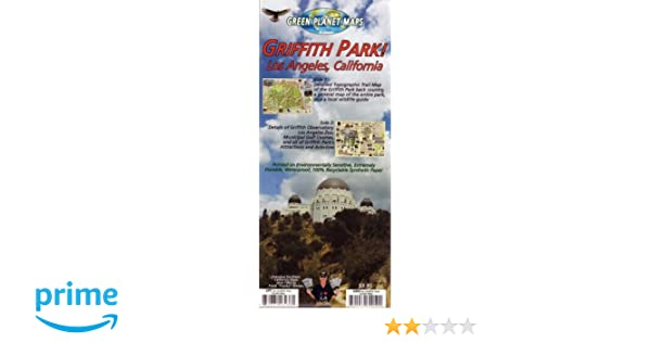 Griffith Park Los Angeles Map.Griffith Park Map And Guide Frank Nielsen 9781939699190 Amazon