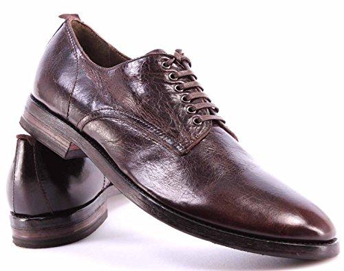 Chaussure Homme MOMA 51503-WB Shine TMoro Moka Derby Cuir Marron Vintage Italy