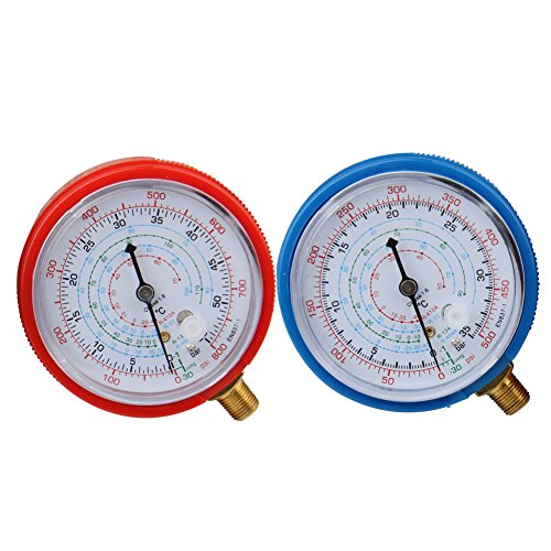 Bang4buck 2 Pieces Refrigerant Low And High Pressure Gauge