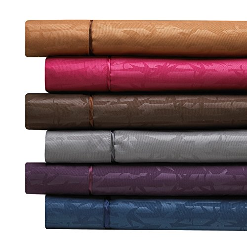 Clara Clark Premier 1800 Collection 100-Percent Microfiber Bamboo Embossed Bed Sheet Set,...