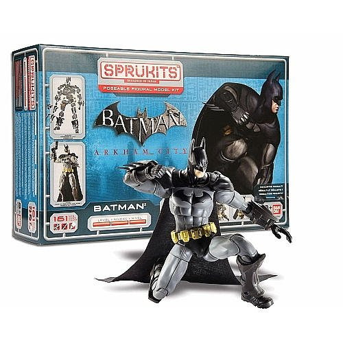 SpruKits DC Comics Batman: Arkham City Batman Action Figure Model Kit, Level 3