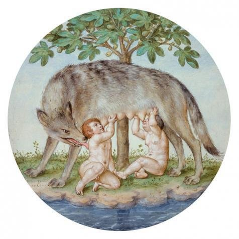 'Georg Pencz,Romulus And Remus,1546' Oil Painting, 12x12 Inch / 30x30 Cm ,printed On High Quality Polyster Canvas ,this Best Price Art Decorative Prints On Canvas Is Perfectly Suitalbe For Kitchen Artwork And Home Decoration And Gifts