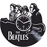 Rock Music Band, The Beatles, Paul Mccartney Clock, John Lennon, Vinyl Wall Clock, Handmade Best Gift For Musician, Vinyl Record Clock, Kovides, Silent, Wall Clock Modern, Valentines Day Gift For Him