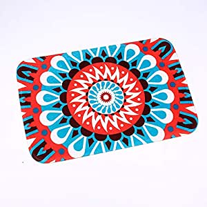 Fashion Design Mandala Geometric Floor Mats Carpet Bathroom Mat For Home Décor Living Room Bedroom Doormat Anti-Slip Rug