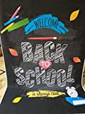 5x7FT Back to School Photo Photography Background Alarm Clock Notebook Backdrops for Photography Ruler Colorful Pencils Paintbrush Blackboard Studio Props Backgrounds for Children Student