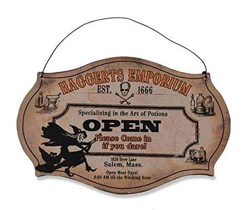 Witching Hour Store Sign   Haggerts Emporium