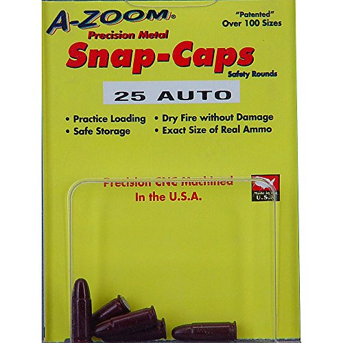 A-Zoom 5-Pack Precision Snap Caps fits 25 Auto (Best 25 Acp Ammo)