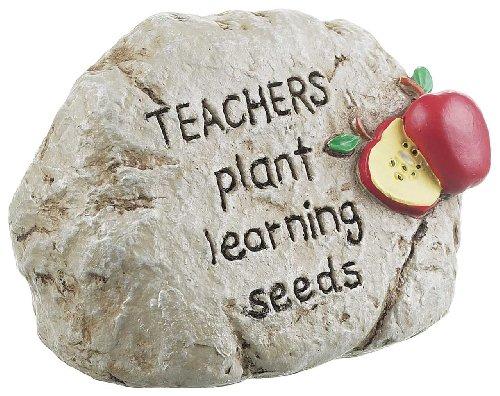 Teacher Paperweight Rock by Ganz - Teachers Plant Learning ()