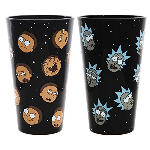 Rick and Morty Exclusive Pint Glass Set - Rick and Morty Heads by RICK AND MORTY