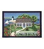 Area Rugs Indoor Outdoor Nautical Decor Washable Rugs Claire Murray Nantucket Scene 30×46 Inch