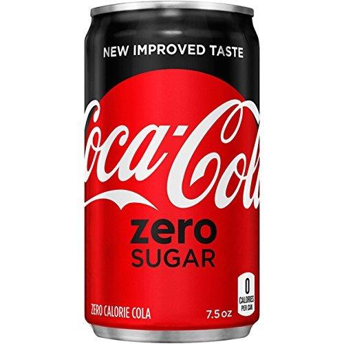 Coca-Cola Zero Sugar Mini-Cans, 7.5 fl oz (Pack of 24)