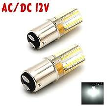 McDen® Ba15d 1076 1130 1176 1142 High Power Car Bulb Double Contact Bayonet Base LED Light Bulbs DC 12V, Pack of 2 (Daylight White 6000K)