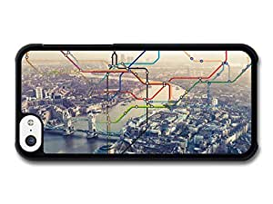 MMZ DIY PHONE CASECool City of London with Colourful Underground Map above Thames and Buildings case for iphone 6 4.7 inch