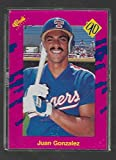 Juan Gonzalez 1990 Classic Update Baseball Rookie Card #T21 - Pink Travel Edition - Texas Rangers - Stored in a Protective Plastic Display Case!!