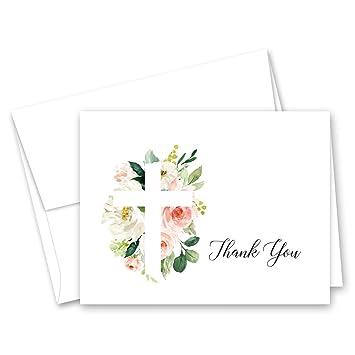 Amazon.com: Tarjetas de agradecimiento para bautizo, diseño ...