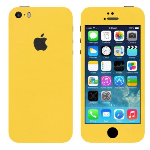 VcareGadGets Front and Back Full Body Skin for Apple iPhone 5s/SE  Yellow Matte