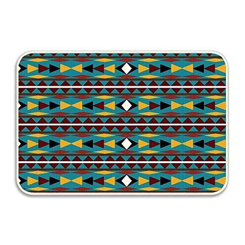 Navajo Teal Pattern Doormat Non-Slip Mat 16 24 inch Doormat Non-Slip Rug - Collection Kitchen Dining Living Hallway Bathroom Pet Entry Rug