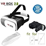 Renyke VR BOX 2.0 with Remote controller Virtual Reality Glasses 3D VR Headsets for Lenovo Vibe K5