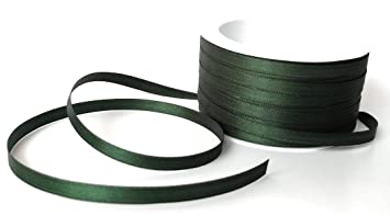 Schleifenband Geschenkband Dekoband schmal Satinband olivgrün 6 mm 25 m