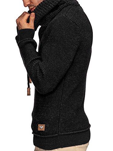 35 Sweatshirt M 110 À Man Capuche Pull Xl En Pulls L S Noir Tricot Indicode 11qr8n