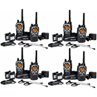 Midland GXT1000 Rechargeable Two Way Radios Walkie Talkies with Dual Charger and Earpieces (8-pack)