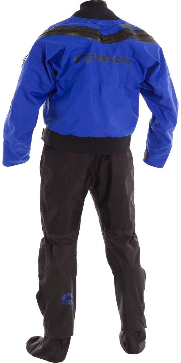 2018 Typhoonマルチスポーツ5ラテックスSeal Drysuit + Con Zipブルー/ブラックIncluding Underfleece 100166 Small  B076NC2GF9
