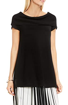 cb690fc1ae7 Image Unavailable. Image not available for. Color  Vince Camuto Black  Cotton Off-The-Shoulder Sweater ...