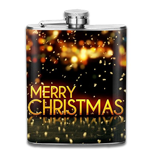 Tydo Red Gold Merry Christmas Stainless Steel Hip Flask Liquid Courage Flasks Outdoor Portable Wine Bottle For Whiskey Alcohol