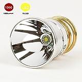 1000 lm bulb - WMlife Flashlight Bulb LED 1000 Lumens Smooth Reflector T6 Single Mode 3.0-18V Drop-in - P60 Design: Ultrafire,Surefire, Hugsby , C2 G2 Z2 9P G3 S3 D2 Ultrafire 501B 502B