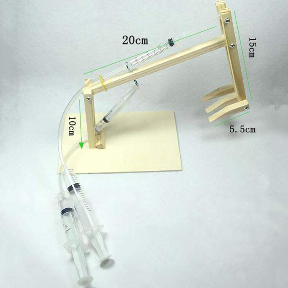 HshDUti DIY Luftdruck Kolben Bagger Set Kinder Wissenschaft Experiment Modell Puzzle Spielzeug Light Khaki