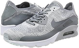 8f6890bd4d092 Nike AIR MAX 90 Ultra 2.0 Flyknit Cool Grey Platinum Mens Running 875943 003