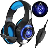 Gaming Headset with Mic for Xbox One PS4 PC, Beexcellent Comfort Noise Reduction Crystal Clarity 3.5mm LED Professional Gaming Headphone for Laptop Tablet Mac Smart Phone